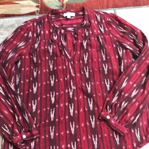 Lucky Brand Red and Burgundy top